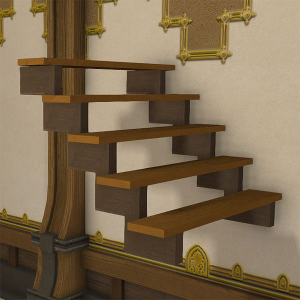 Wall wooden steps