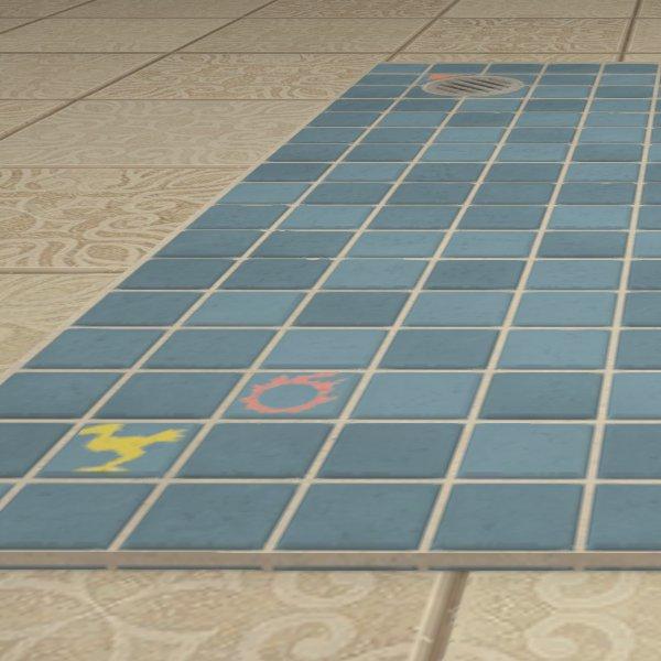 Bathroom Floor Tiles FFXIV Housing - Rug