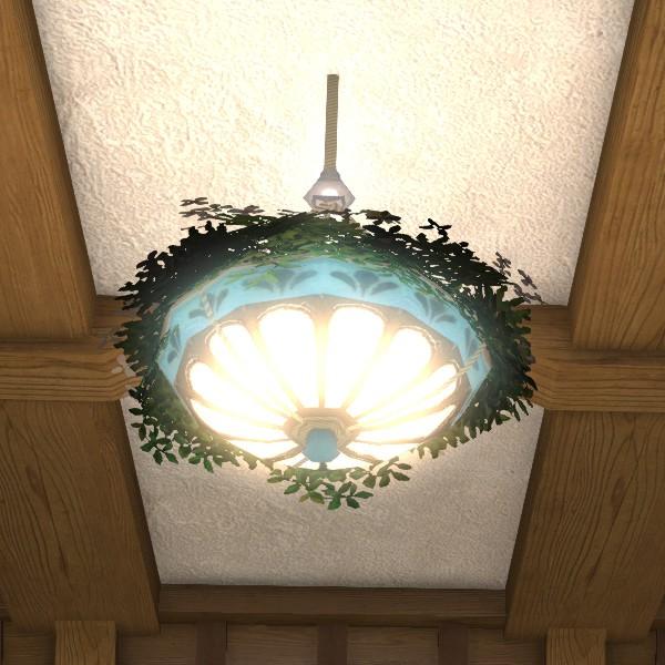 Hanging Light With Planter: Pendant Lamp Planter FFXIV Housing