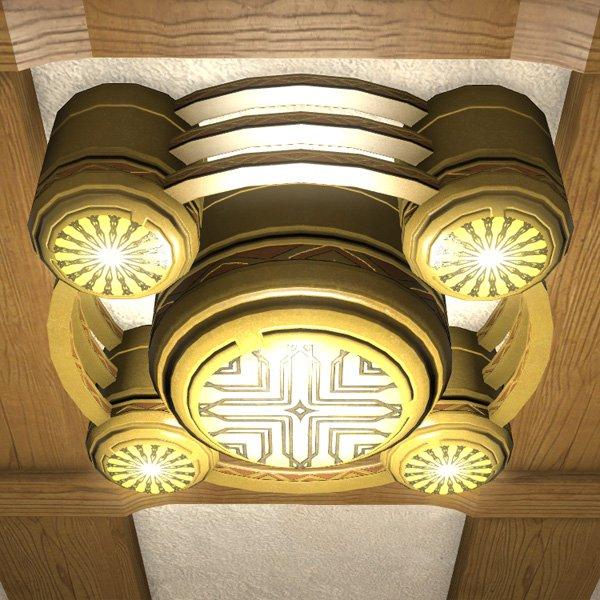 gold saucer chandelier ffxiv housing   interior