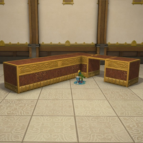 Gold Saucer Corner Counter