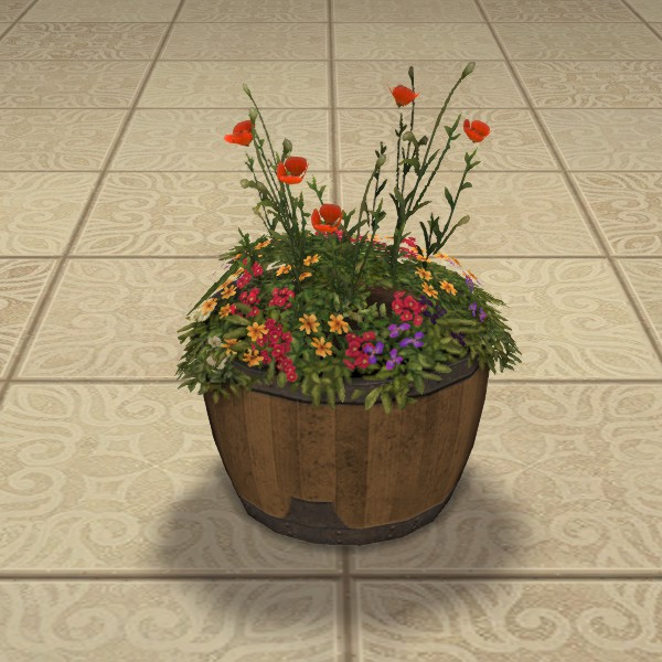 Oak Low Barrel Planter
