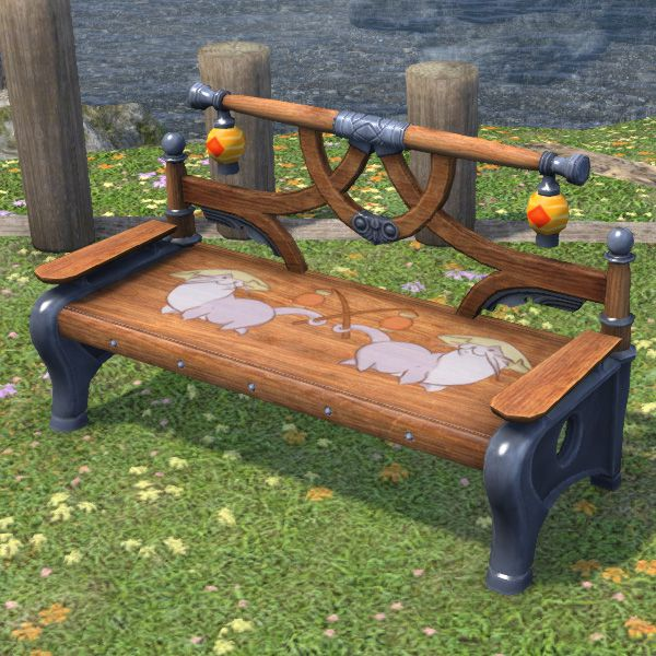Amazing Odder Otter Bench Ffxiv Housing Outdoor Furnishing Machost Co Dining Chair Design Ideas Machostcouk