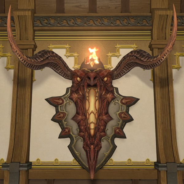 Inferno Wall Lamp FFXIV Housing - Wall-mounted