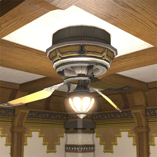 Serpent Ceiling Fan & Lamp