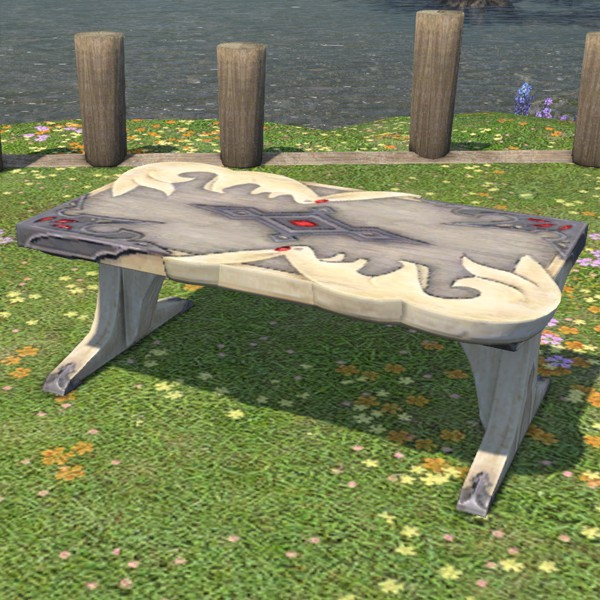 Outstanding Carbuncle Garden Table Ffxiv Housing Outdoor Furnishing Pdpeps Interior Chair Design Pdpepsorg
