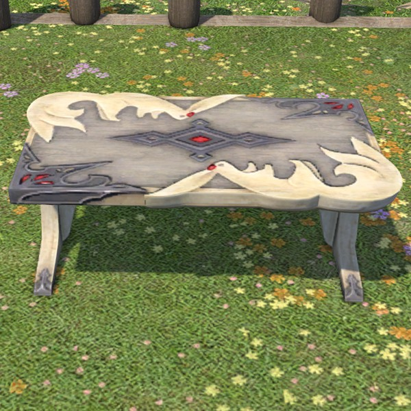 Pleasing Carbuncle Garden Table Ffxiv Housing Outdoor Furnishing Pdpeps Interior Chair Design Pdpepsorg