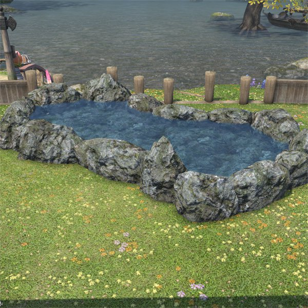 Large garden pond ffxiv housing outdoor furnishing for Large garden pool