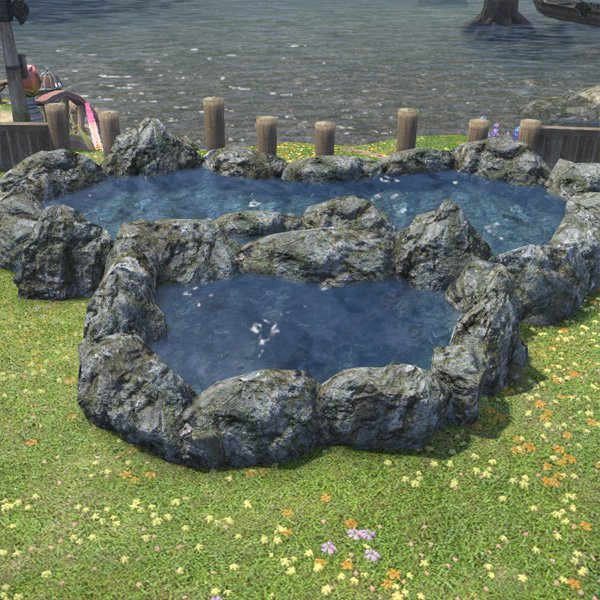 Large garden pond ffxiv housing outdoor furnishing for Large garden pond designs