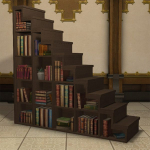 Wooden Staircase Bookshelf
