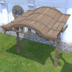 Oasis Wooden Awning