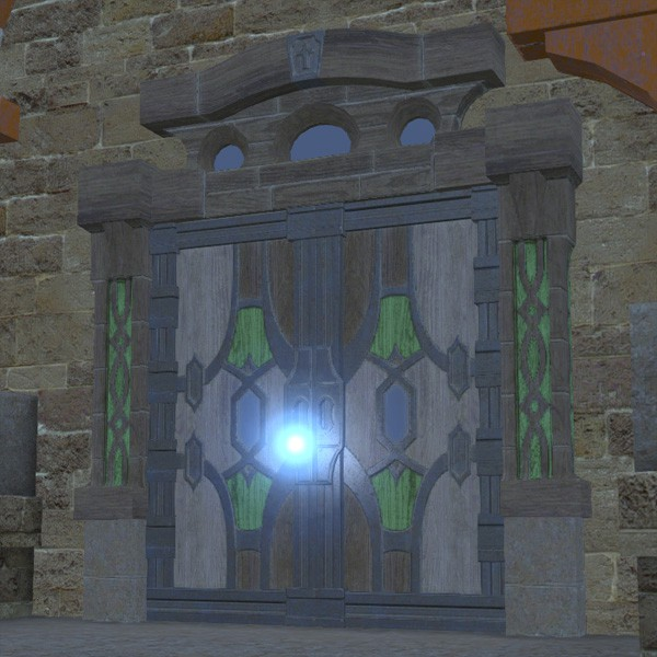 Oasis Crowned Door