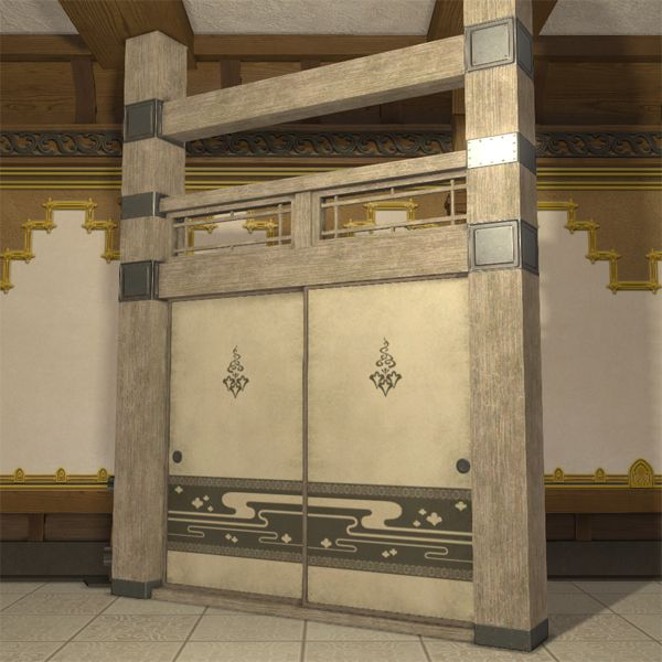 Oriental Partition & Oriental Partition FFXIV Housing - Furnishing