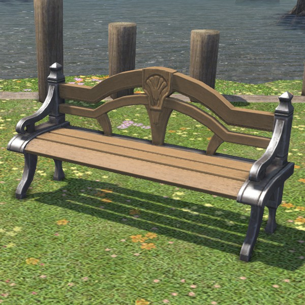 Marvelous Carbuncle Garden Bench Ffxiv Housing Outdoor Furnishing Pdpeps Interior Chair Design Pdpepsorg