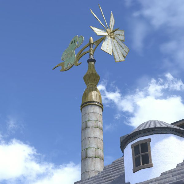Cactuar Weathervane Ffxiv Housing Exterior Decoration