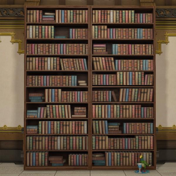 Mounted Bookshelf FFXIV Housing