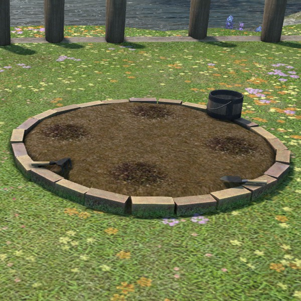 Round Garden Patch FFXIV Housing Outdoor Furnishing