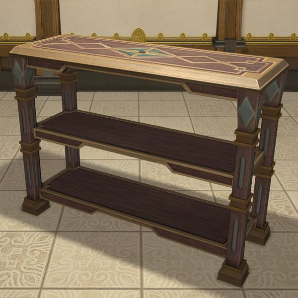 Oasis Open Shelf Bookcase Ffxiv Housing Table