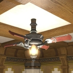 Storm Ceiling Fan & Lamp